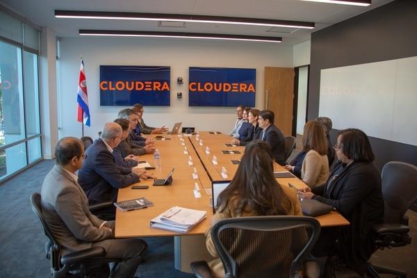 Este miércoles 13 de marzo el presidente de la República Carlos Alvarado se reunió con representantes de la firma Cloudera, en Palo Alto, California.