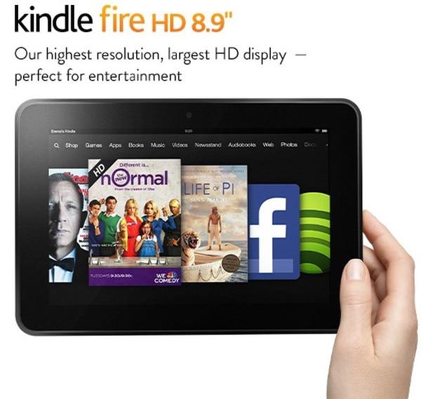 Precio de Kindle Fire HD de 8,9 pulgadas arranca en $269