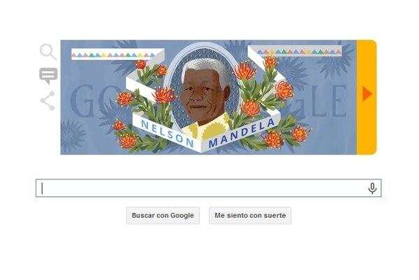 Doodle en homenaje a Nelson Mandela