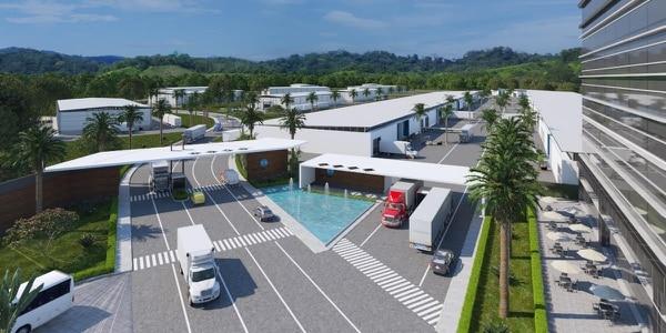 El proyecto Plataforma Logística Caribe (PLACA), en Limón, se desarrollará en un terreno de 30 hectáreas. Se estima el inicio de la construcción en el primer semestre del 2021. Foto: Cortesía de los desarrolladores.