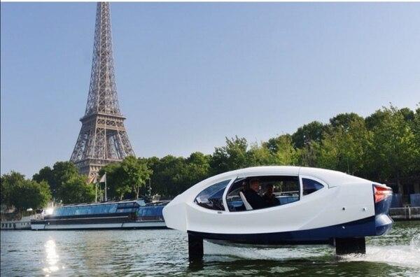 SeaBubbles quiere descongestionar las ciudades desarrollando el transporte acuático. Foto: SeaBubbles.