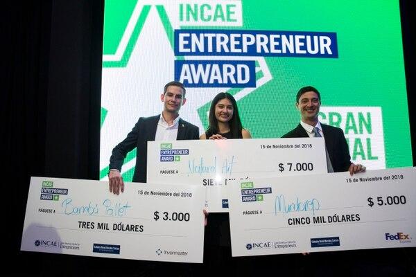 Incae Entrepreneur Award cumple tres años y su objetivo es apoyar a los empresarios de la región. (Foto cortesía Incae)