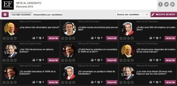El semanario El Financiero lanzó este lunes la primera aplicación de verificación de datos en el país para que los lectores puedan retar las afirmaciones que hagan los candidatos presidenciales durante la campaña política.