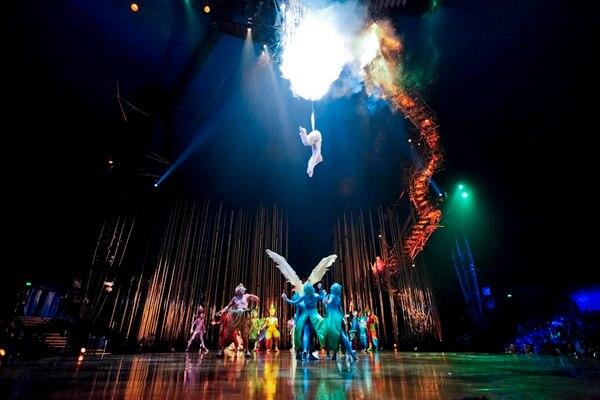 Cirque du Soleil en Costa Rica - ensayo general de Varekai