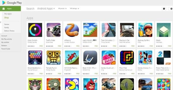 Las apps de juegos dominan las descargas para dispositivos con el sistema operativo Android, seguidas de las de videos.