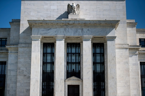 A view of the Federal Reserve is seen on May 2, 2018 in Washington, DC.