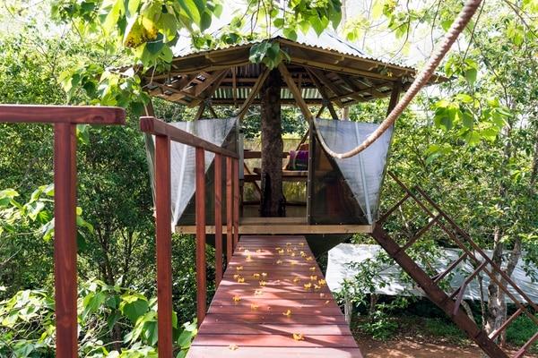 Los precios de los hospedajes de Airbnb van desde ¢5.600 a ¢500.000 por noche y se ubican en todas las zonas turísticas del país y también de la GAM. La foto corresponde a Sacred Geome-Tree House, en Puntarenas.