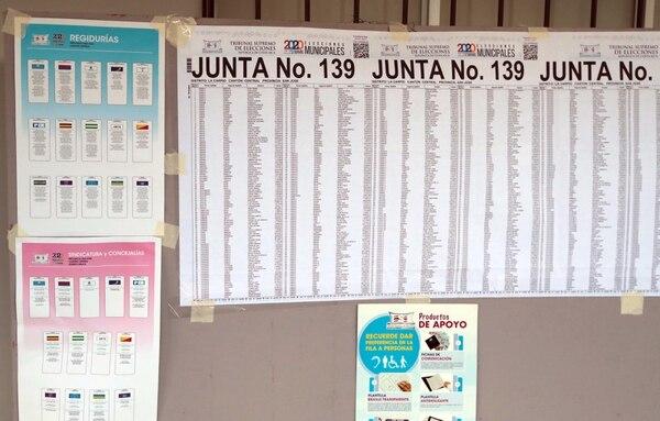 Padrón electoral de la escuela de La Carpio. Foto: Alonso Tenorio.