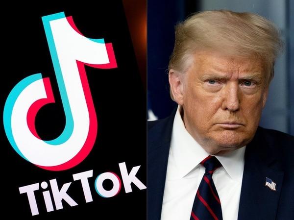 Luego de semanas continuas de rumores y presiones, Donald Trump finalmente anunció que se preparaba para prohibir el uso de TikTok en Estados Unidos, mediante una orden ejecutiva que aplicaría desde este sábado 1 de agosto. Lionel Bonaventure y Jim Watson, AFP.