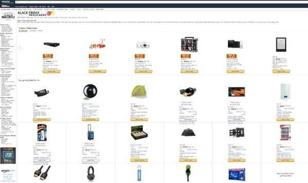 Las ofertas de Amazon se iniciaron el viernes 20 de noviembre.