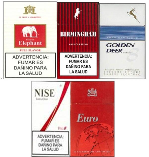 Estas marcas de cigarrillos serán decomisadas por el Ministerio de Salud.
