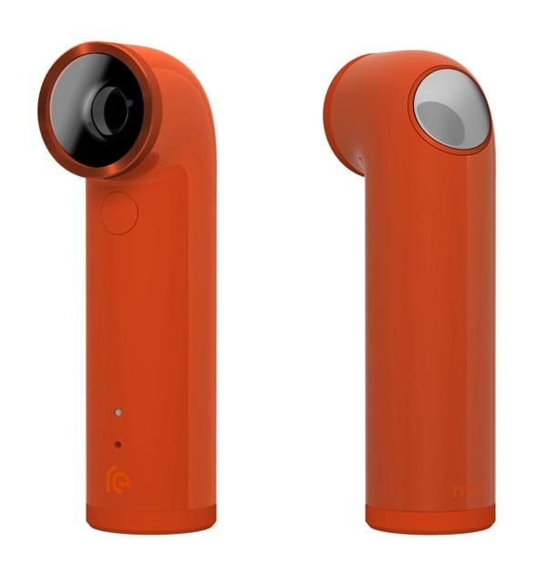 La cámara de HTC, con el nombre de Re, de 16 megapixeles, con forma de un pequeño periscopio y que se adapta fácilmente a la mano.