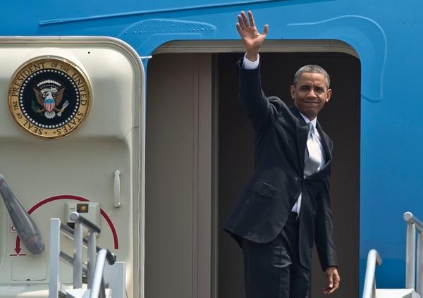 Obama llegó este viernes a Costa Rica procedente de México.