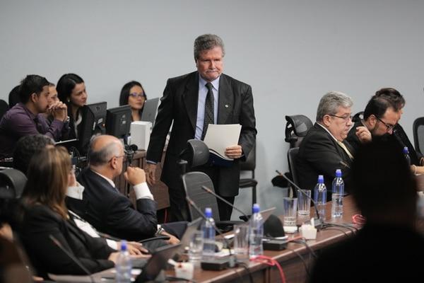 1/8/2018. San Jose. Eleccion del presidente de la Corte Suprema de Justicia. En la foto aparece Fernando Cruz Castro (de pie). Foto Jeffrey Zamora