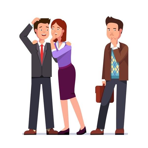 Cuando quiera chismear sobre alguien del trabajo, haga una pausa y pregúntese por qué. (Imagen: Sutterstock para EF).