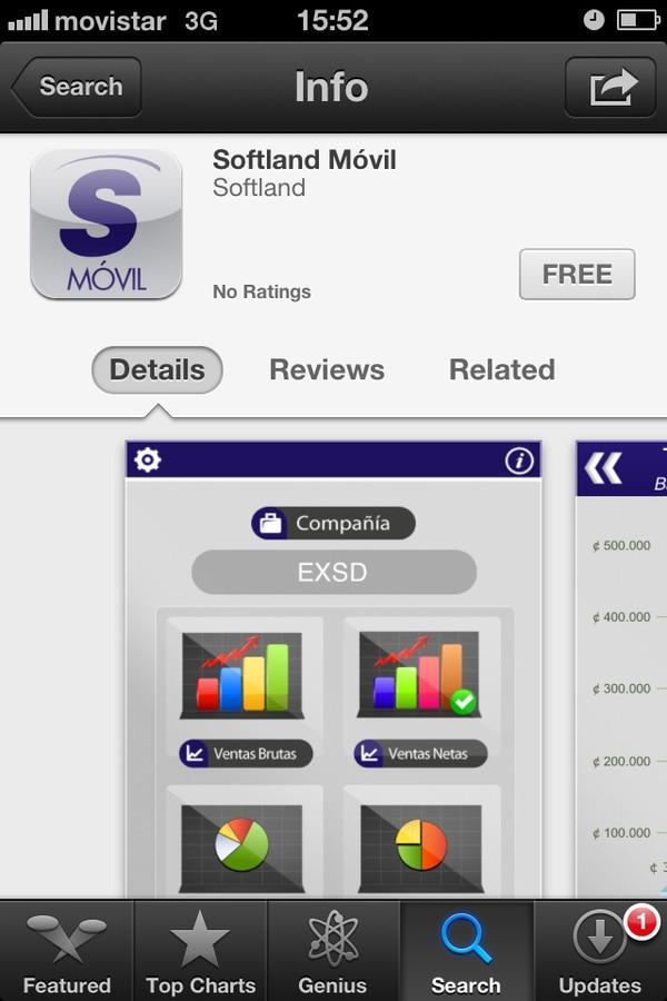 Softland Móvil es una app gratuita para los usuarios del sistema ERP Exactus.