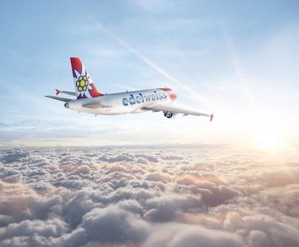 La aerolínea suiza Edelweiss Air volaba tres veces por semana a Costa Rica en marzo, desde Zurich. La empresa anuncia en su página de Internet que volará de nuevo al país en octubre, aunque Suiza está entre los países autorizados desde agosto. Foto: Edelweiss Air