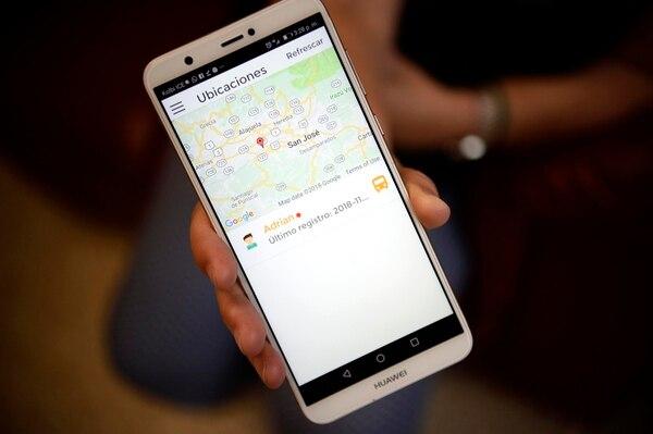 Con el mapa digital se puede ver en tiempo real el recorrido, la ubicación y la velocidad del microbús. Foto: Diana Méndez.