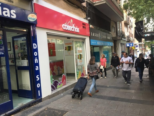 EN 2017 la marca Cosechas fue una de las de mayor crecimiento en el sector de franquicias de Costa Rica. La apertura de esta tienda en Madrid fue una de las razones de su éxito. Foto: César Brenes