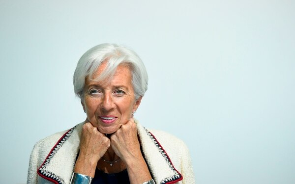 (FILES) In this file photo taken on June 13, 2019 International Monetary Fund (IMF) managing Director Christine Lagarde smiles during a press conference during an Eurogroup meeting at the EU headquarters in Luxembourg. - International Monetary Fund chief Christine Lagarde on July 2, 2019 announced she would step down from the global lender after being nominated to lead the European Central Bank.