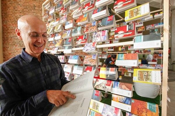 Pascuala fue otra de las Concherías que leyó Jiménez antes de entrar a la Feria del Libro, en el puesto de Grupo Nación.