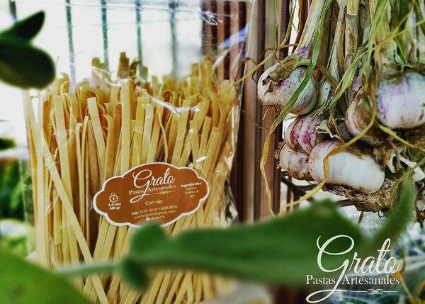 Las pastas son hechas con ingredientes naturales y orgánicos.