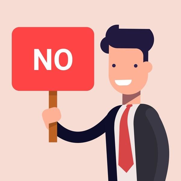 Consejos de Gerencia: Aprenda a decir que no. Foto: Shutterstock para EF