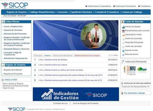 El Sicop utiliza la plataforma de Merlink, con varios ajustes según el Ministerio de Hacienda.
