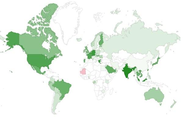 Conexiones a Google utilizando IPv6 a nivel global. (Imagen reproducción EF)
