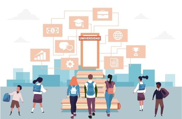 Solo el 33% de los estudiantes asiste a educación privada en secundaria, de acuerdo con datos del Estado de la Educación. Ilustración: Carlos Fonseca.