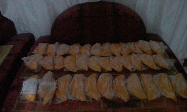 Las empanadas que elabora Aurora Correa son de carne mechada.