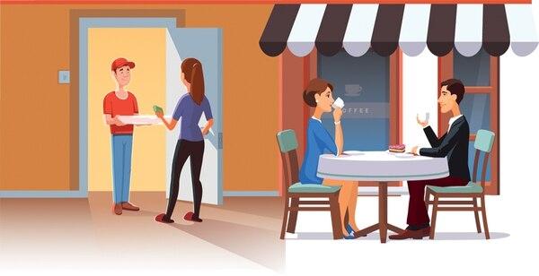 Comer afuera es menos frecuente Decrece la cantidad de visitas varias veces por semana a restaurantes de comida rápida y casuales