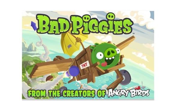 El juego BadPiggies, de Rovio (empresa creadora de Angry Birds)