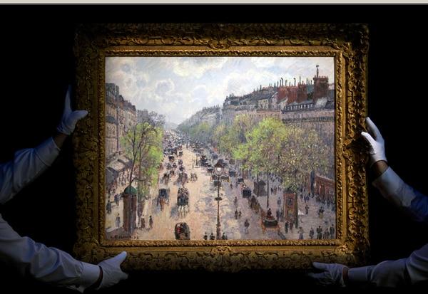 El impresionista danés Camille Pissarro pintó 'Le Boulevard Montmartre, matinée de printemps' en 1897