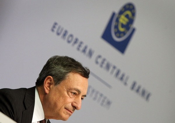 FP-12801193.jpg Caption: Mario Draghi, President of the European Central Bank (ECB), gives a press conference following a meeting of the ECB's Governing Council in Frankfurt am Main, western Germany, on September 8, 2016. The European Central Bank held its record-low interest rates unchanged, as analysts expected the bank to wait for a clearer picture to emerge of the Brexit impact before making any drastic policy changes.