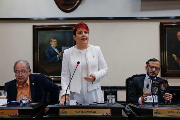 """""""En primer debate votamos en contra del dictamen de mayoría (que incluía el recorte a la cartera de Cultura) y no en contra del presupuesto"""", manifestó Laura Guido, diputada del grupo rojiamarillo. Foto: Mayela López"""