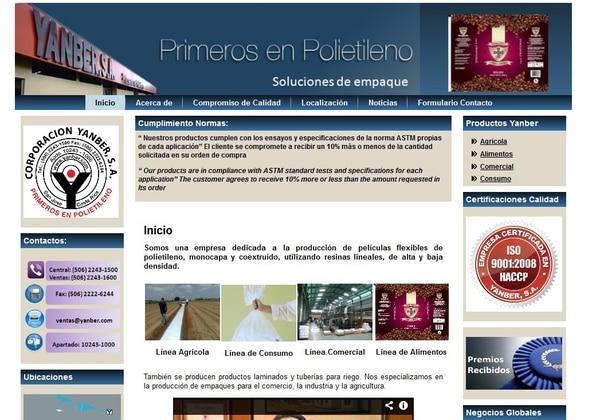 Corporación Yanber exportó en 2012 un 50% de la producción de la planta en suelo costarricense